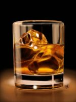 iPad finger painting: whiskey in glass by chaseroflight