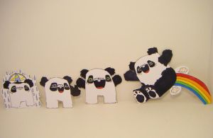 Happy panda stickerssss by loveandasandwich