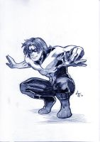 Art trade Nightwing by MGNemesi