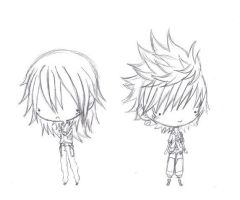 Unfinished Riku And Ven Chibis by AAKreations