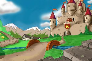 castle in colour by melaniehitomi