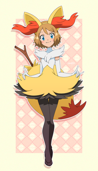 Serena's Braixen Costume by hitsuji02