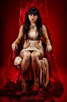 Cleopatra on Red by oldmacman