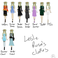 PI: Leslie's outfits by SnowAngelRika