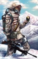 Soldier_in_the_Snow by Unodu