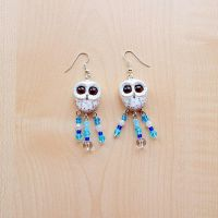 Owl earrings of polymer clay by koshka741