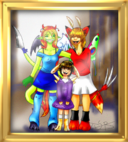 picture frame - happy family by Super-kip