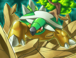 Torterra's Earthquake by silverava
