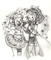 Gumi And Sonika by hahuchal