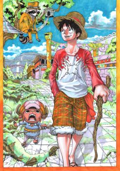 Luffy and Chopper by Jigmetenzin