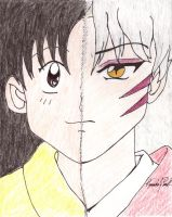 rin and sesshomaru color by Eilarin