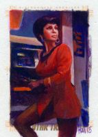 uhura oil sketch by charles-hall