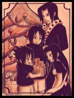 +Uchiha Family's Christmas+ by Red-Priest-Usada