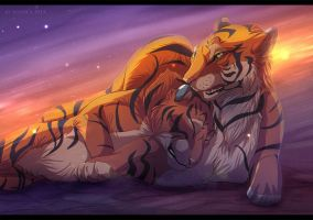 Tiger Hug by Seanica