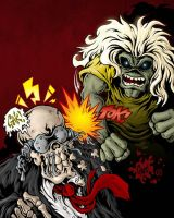 Eddie Vs Vic Rattlehead by MonsterInk