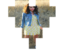SELENA GOMEZ CORAZON PNG by HUGO542