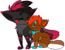 Gift - KinqHomo + penguinfluffypants by DonitKitt