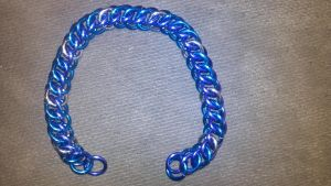 MLP Themed Luna Chainmail Bracelet-1 by TheGiantsnoll