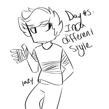 Day #5: In A Different Style by Rainbowbells