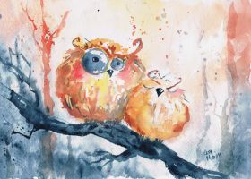 owls - friends by bemain