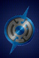 Metalic Blue Lantern Flash background by KalEl7
