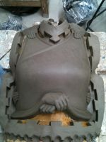 Cuirass sculpt before moulding by danielokeefe