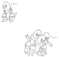 Diglett and Dugtrio Exposed by Dragga