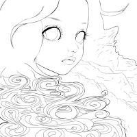 Mother Earth Line Art by Endette