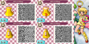 Animal Crossing QR Code Mew Pudding by SuperAngel502