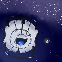 Scribble: Wheatley in ... Spaaaaaace! by Cerasum92
