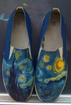 Starry Night Shoes by bhakri