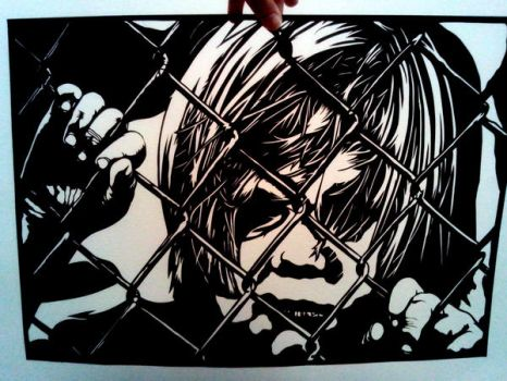 'Locked up'- paper cutting by EllaBaras