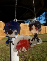 Black Butler Necklace by VioletteSunset