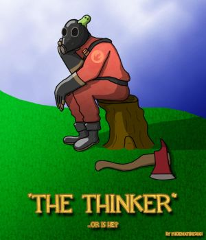 Team Fortress 2: The Thinker by VermilionEclipse
