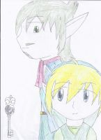 Link and Linebeck by DarkStarWolf13