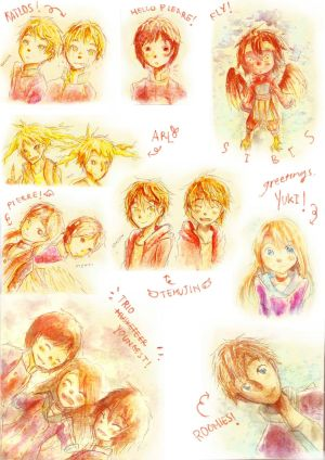 [SiBiS] Watercolor Doodles by FEA-S