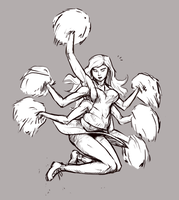 Six-armed Cheerleader by Tourbillon-da