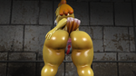 Isabelle bending over after a shower by R0ck4x3