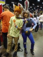 Megacon '16: Nick Wilde and Judy Hopps by NaturesRose