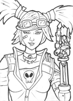 Gaige ACEO 01 B/W by JusticeDude