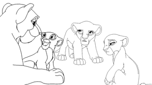 Lioness and three Daughters by ScarzDaughter
