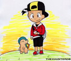 Request- Pokemon Trainer Gold by TheXHunter08