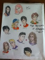 The Heroes of Olympus by ClaireW-artist