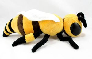 Realistic Stuffed Honey Bee by BeeZee-Art