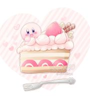 .:Kirby's Cake:. by PaperLillie
