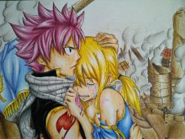Natsu and Lucy by lShou