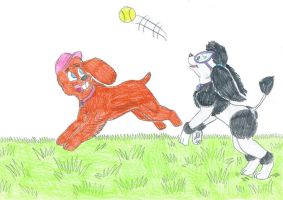 K-9 Timmy and Tootie - Ball by Jose-Ramiro