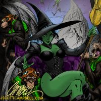 WICKED WITCH colors by CThompsonArt