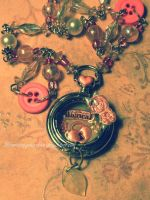 Magical Meadow Vintage Trinket Necklace by GlimmeringStarshine