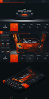 Lamborghini Aventador - Web Layout by detrans